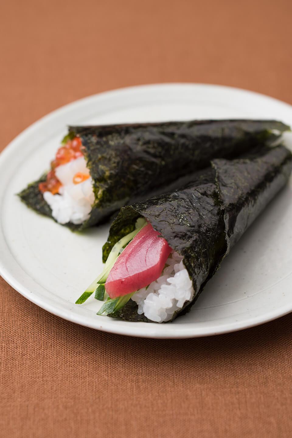 方 寿司 手 巻き 海苔 切り